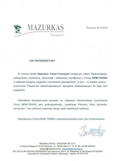 Rekomendacja biuro podróży Mazurkas Travel