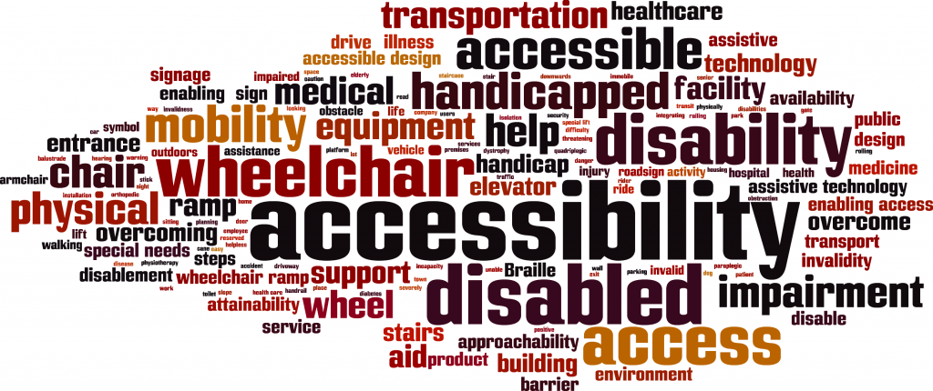 Group of words connected with disability
