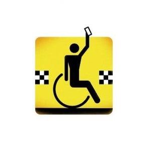 Osoba niepełnosprawna wzywa taksówkę