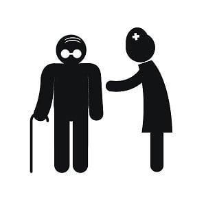 Osoba chora wraz z pielęgniarką